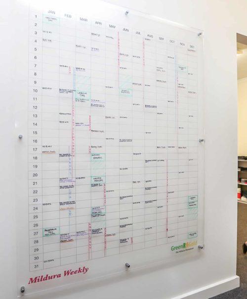 Wall Scrawl, Custom Planner, Acrylic Whiteboard