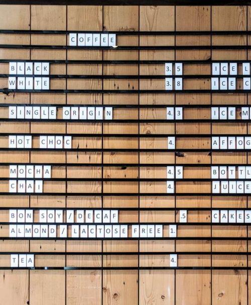 Letter Menu Board, Menu Board, Rail Menu Board, Letter Tiles, Letter Display