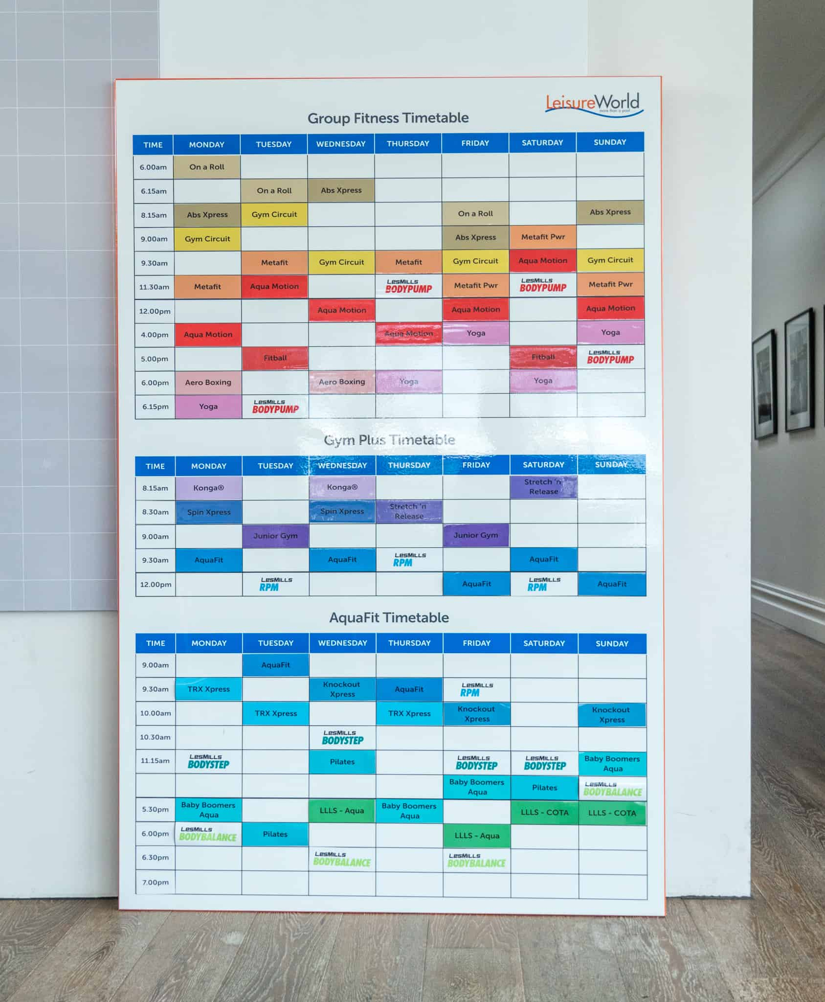 Printed Magnets, Fitness Timetable, Group Fitness Classes, Custom Whiteboard Planner, Magnetic Whiteboard