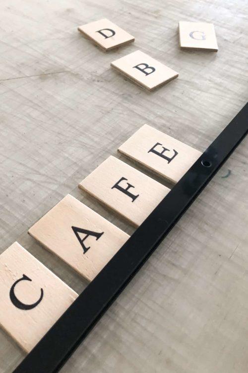 Word Tiles, Letter Menu, Menu Board, Plywood Tiles by Decently Exposed