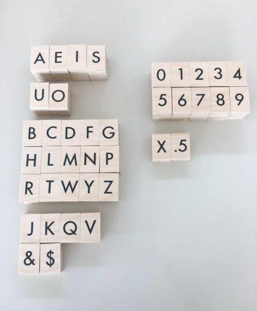 Plywood Letters, Menu Letter Tiles, Letter Display, Menuboard